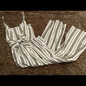 Pants - Striped jumpsuit size small
